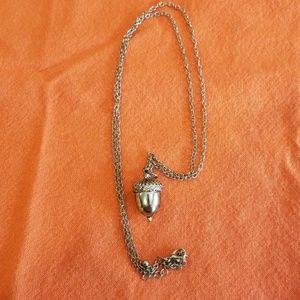 Oak-en of Gratitude Acorn Pendant Necklace